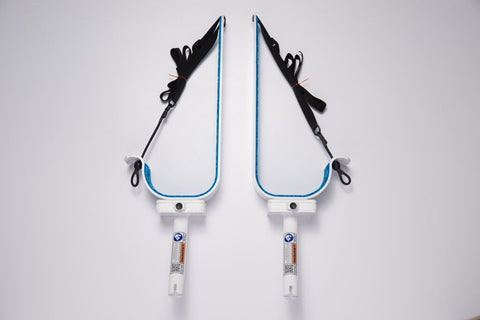 Manta Racks - S1 Single Sup Rack - Fits 1 Paddleboard - White w/ Snow Camo Pad - Marine Fiberglass Direct