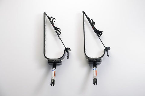 Manta Racks - S1 Single Sup Rack - Fits 1 Paddleboard - Satin Black w/ Blue Aqua Camo Pad - Marine Fiberglass Direct