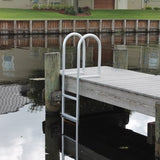 C&M Marine - 8 Step Standard Fixed Dock Ladder - Marine Fiberglass Direct