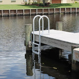 C&M Marine - 4 Step Standard Lift Dock Ladder - Marine Fiberglass Direct
