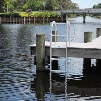 C&M Marine - 8 Step Standard Lift Dock Ladder - Marine Fiberglass Direct