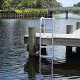 C&M Marine - 7 Step Standard Lift Dock Ladder - Marine Fiberglass Direct