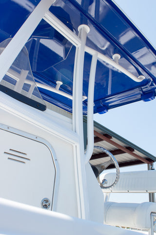 ADDA-Top Universal T-Top - Frame - Hard Top in a Box - DELUXE KIT - CAROLINA BLUE - Marine Fiberglass Direct