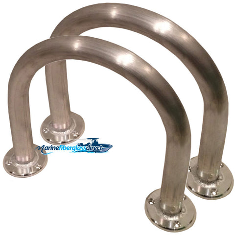 "Two (2) - 12"" H x 13"" W - Marine Grab bars -Marine Grab Handles -Boat Grab Rails - Boat Grab Handles - Marine Fiberglass Direct"