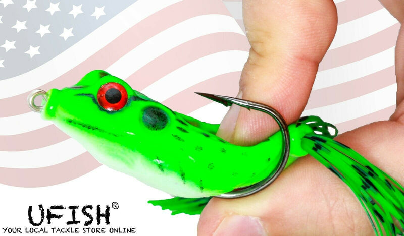 UFISH - Soft Frog Lures Set, Best Bass Fishing Lure, Sharp Hooks & Action Ready