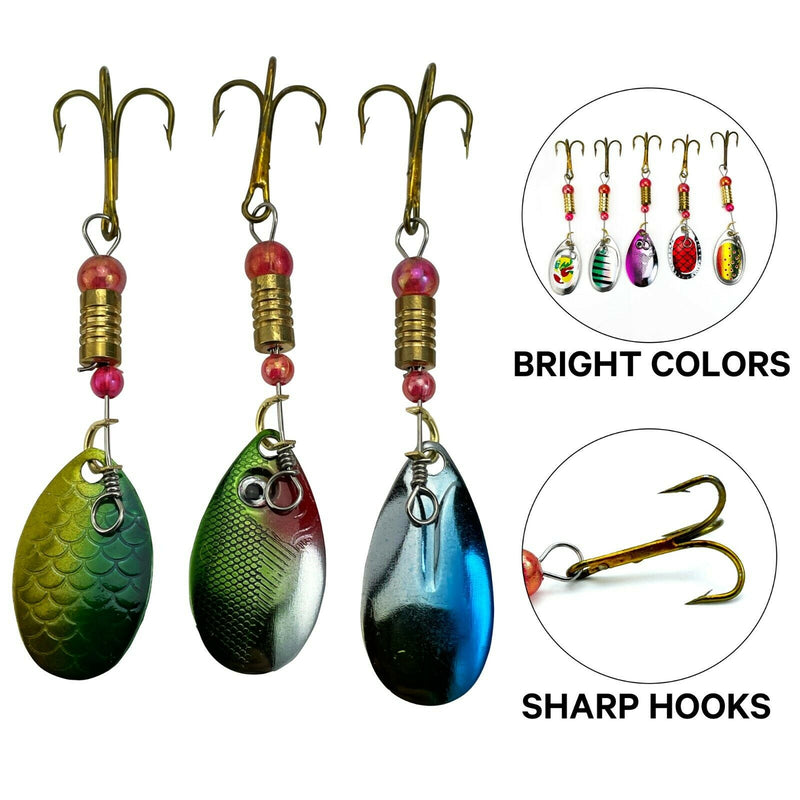 UFISH - Trout fishing lot - Trout fishing kit - Fishing lures - Spinner Baits