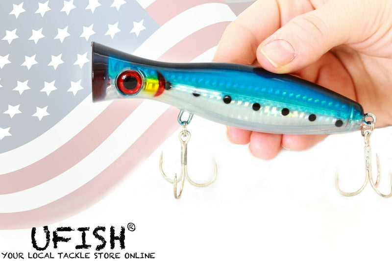 "UFISH - 5""  Saltwater Popper Fishing Lure, Topwater Popper Lures"