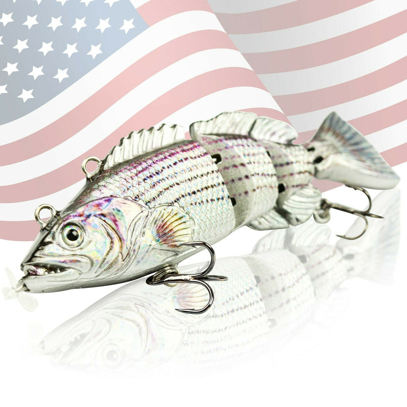 "NEW 3.5"" Electric Live bait, Robotic Fishing Lure - Swimming Wobbler - Bass Bait"