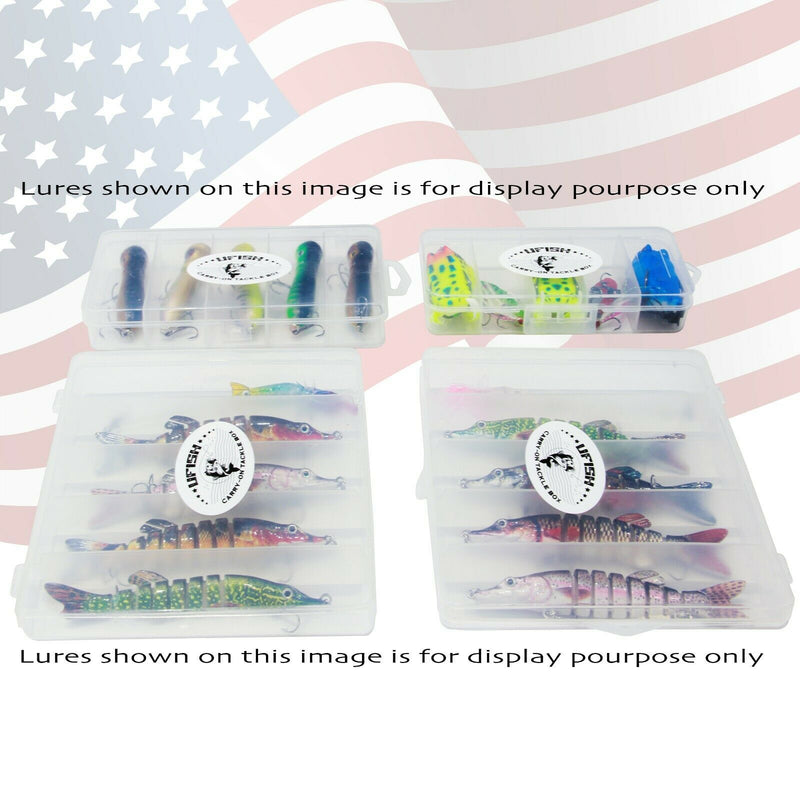 UFISH Fishing Lures Storage Organizer Bait Box