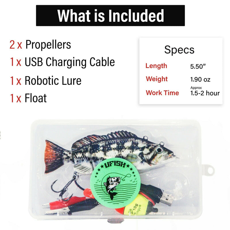 UFISH Large Size Swimming Robotic Fishing Lure