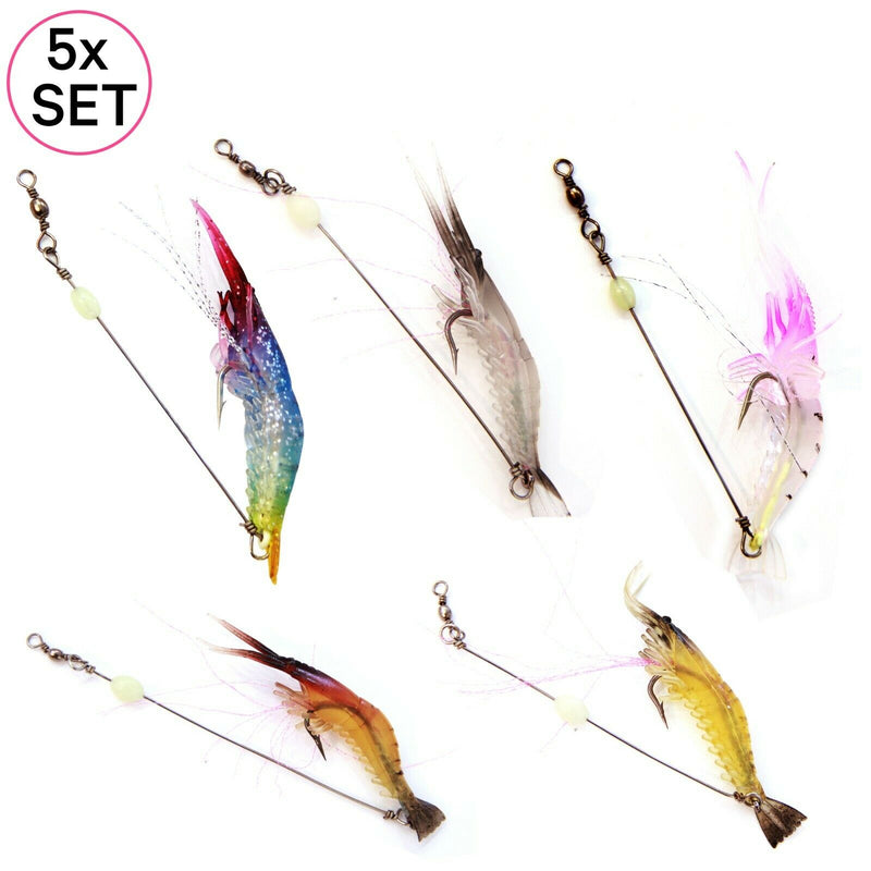 UFISH Soft Shrimp Lure Bait Lot ,Luminous Swimbait Fishing Freshwater Saltwater
