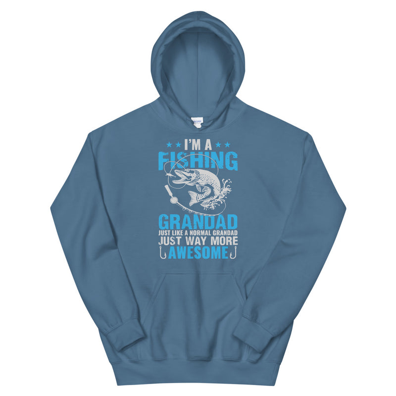 I'm a Fishing Granddad just like a normal Granddad just way more awesome Granddad Fishing Hoodie