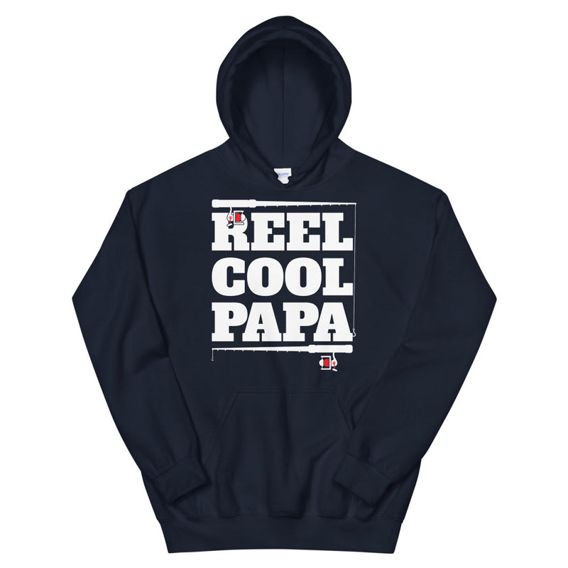 Reel Cool Papa - Father's Day Fishing Hoodie  Gift for Dad