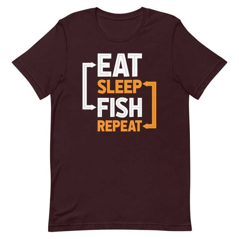 Eat Sleep Fish Repeat - Best Fishing T-Shirt