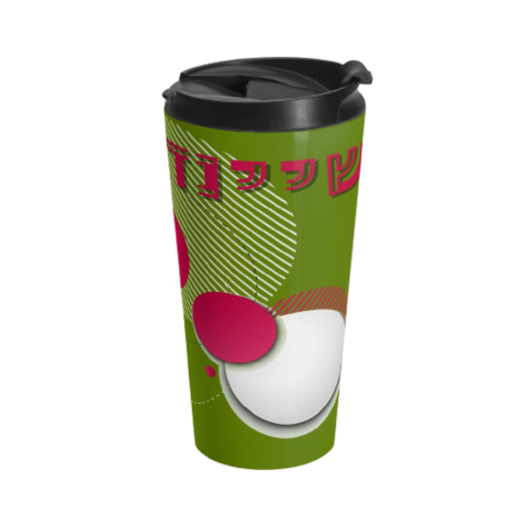 Circles Travel Mug in Green