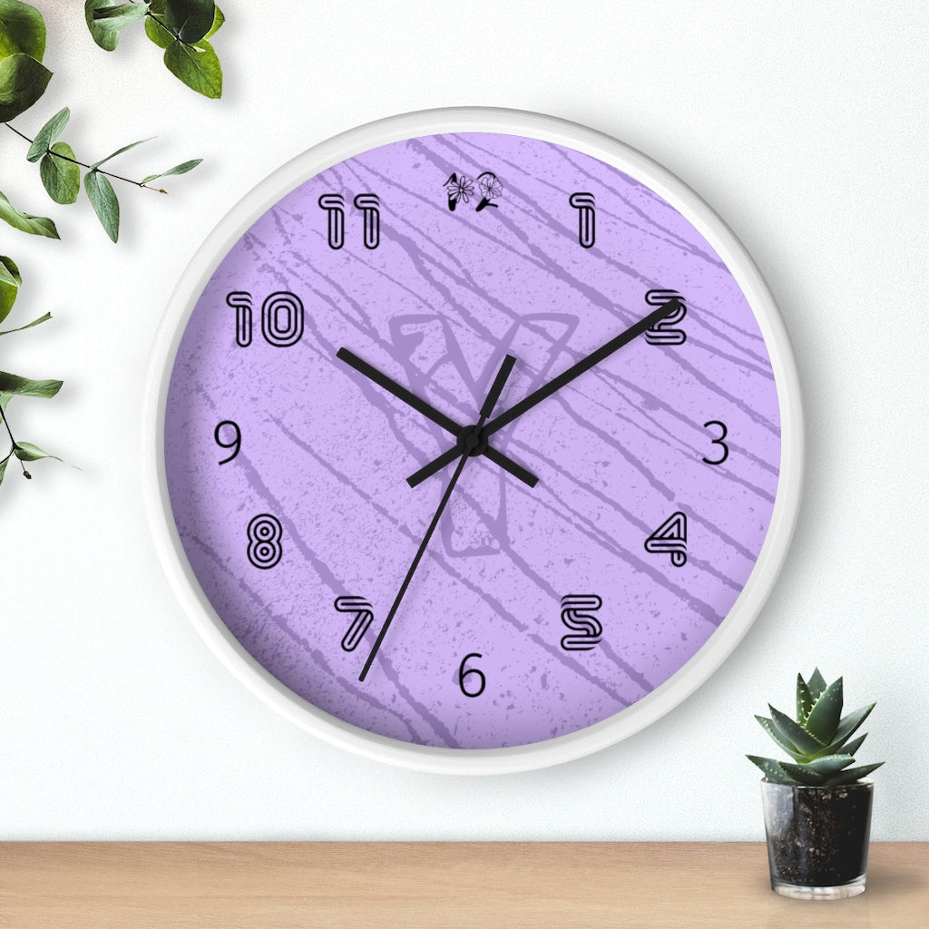 Initial Wall Clock in Purple