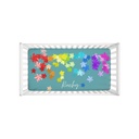 Colorful Leaves Fuzzy Crib Sheet - NAMEBITZ