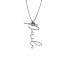 Simple Script Necklace - English, Silver - NAMEBITZ