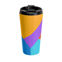 Colorful Geometric Travel Mug