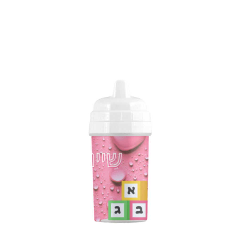 Blocks Sippy Cup in Pink - NAMEBITZ