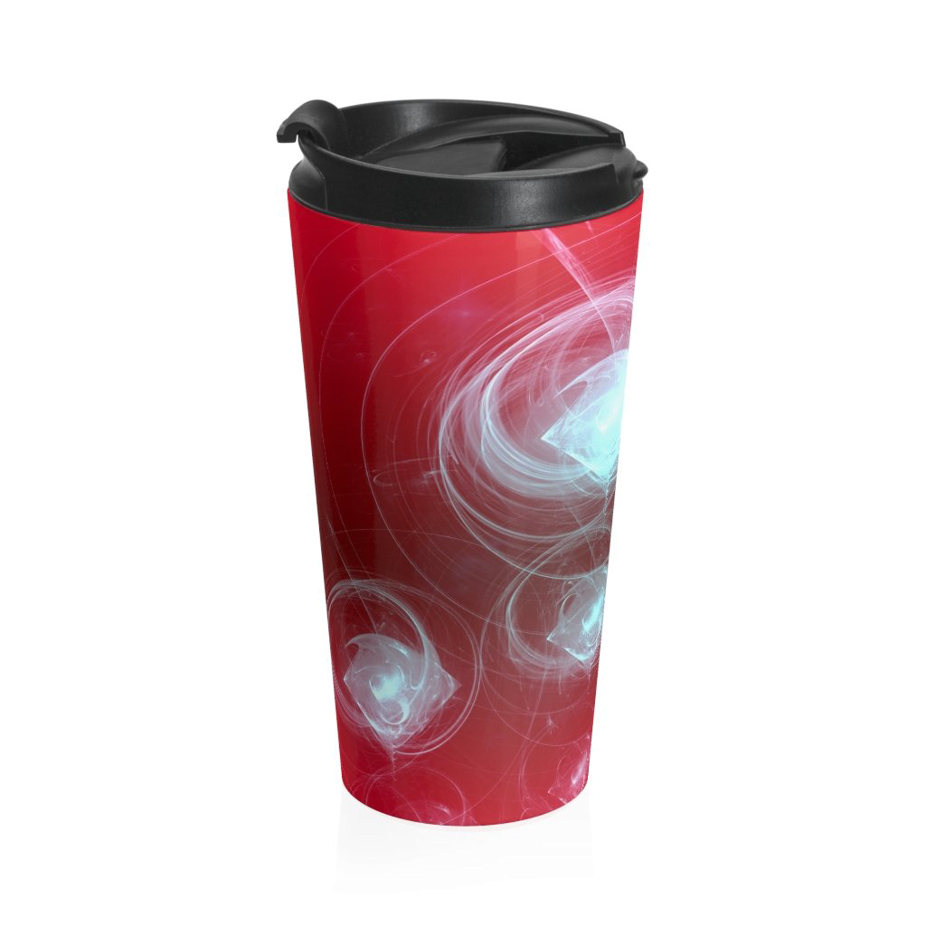 Red Print Travel Mug