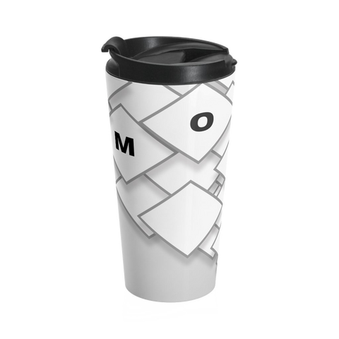 White Squares Travel Mug