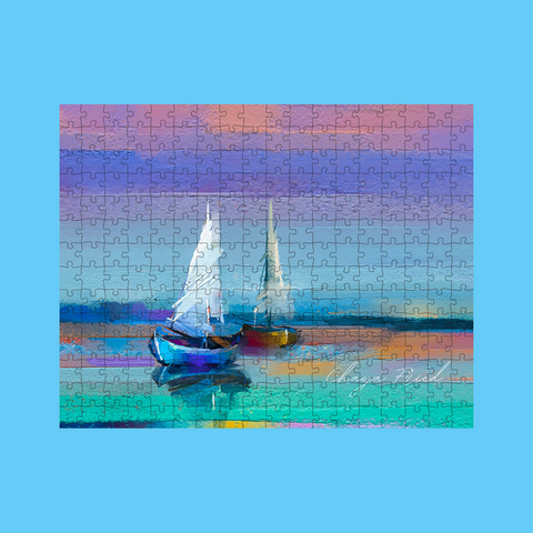 Sailboats Custom Signature Puzzle