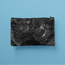 Black Marble Initial Pencil Case