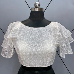 Beautiful Readymade Blouse with Ruffle Sleeves