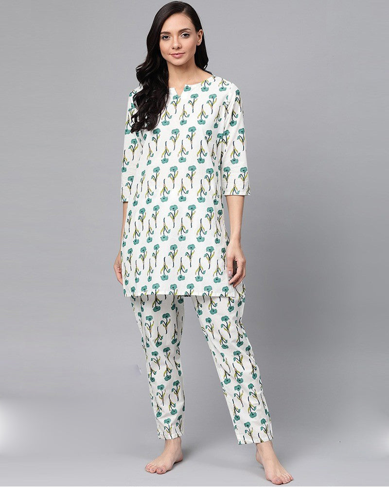 Cotton Printed Night suit