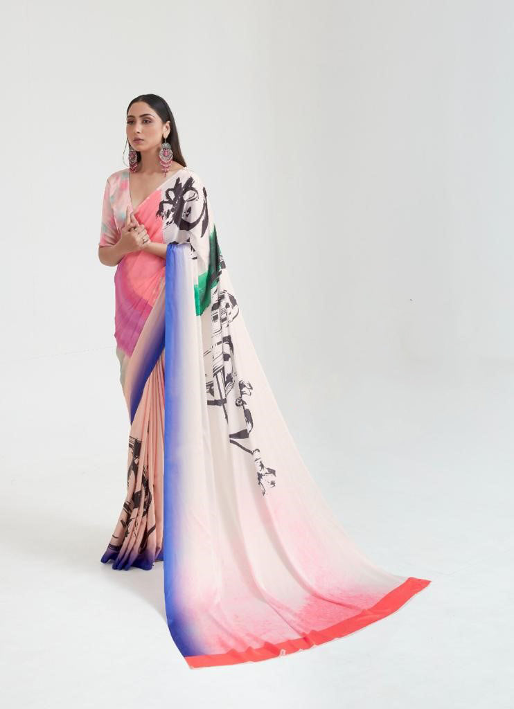 Elegant Japan Crepe Silk Saree