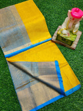 Load image into Gallery viewer, Elegant Yellow and Blue Uppada Saree