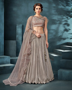 Contemporary Silver Colour Lehenga