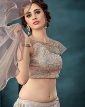 Load image into Gallery viewer, Contemporary Silver Colour Lehenga
