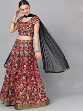 Load image into Gallery viewer, Beautiful Rust floral lehenga