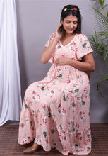 Load image into Gallery viewer, Beautiful Printed Maternity Dress