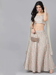 Lehenga with cape Dupatta