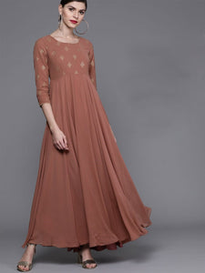 Brownish pink Maxi dress