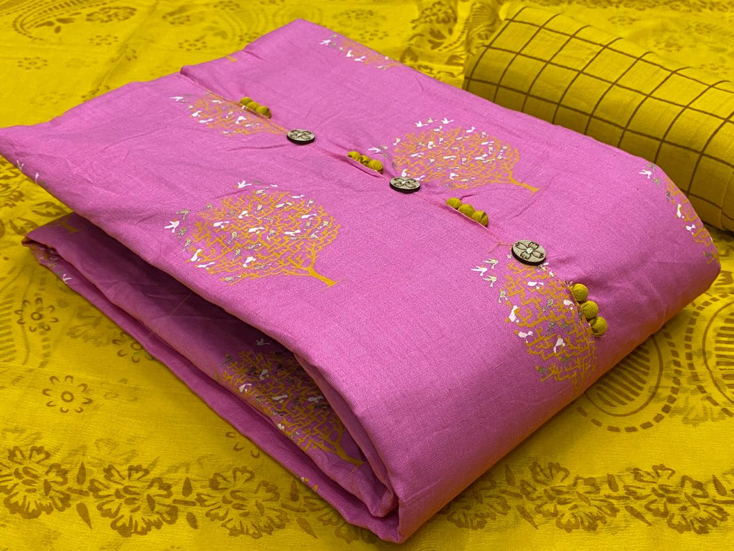 Unstitched Cotton Salwar Material