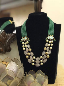 Neckpiece  Embellished with Pearls and Beads