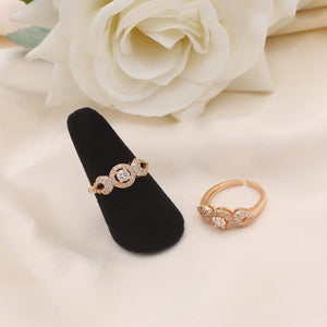 Beautiful Gold Adjustable Finger Ring