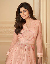 Load image into Gallery viewer, Pink Semi-stitched Salwar Material