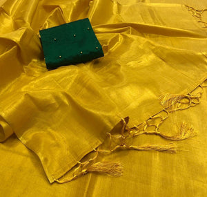Pretty Plain Tissue Saree