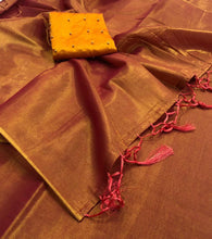 Load image into Gallery viewer, Pretty Plain Tissue Saree
