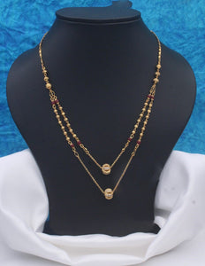 Double layer Gold plated Neckpiece