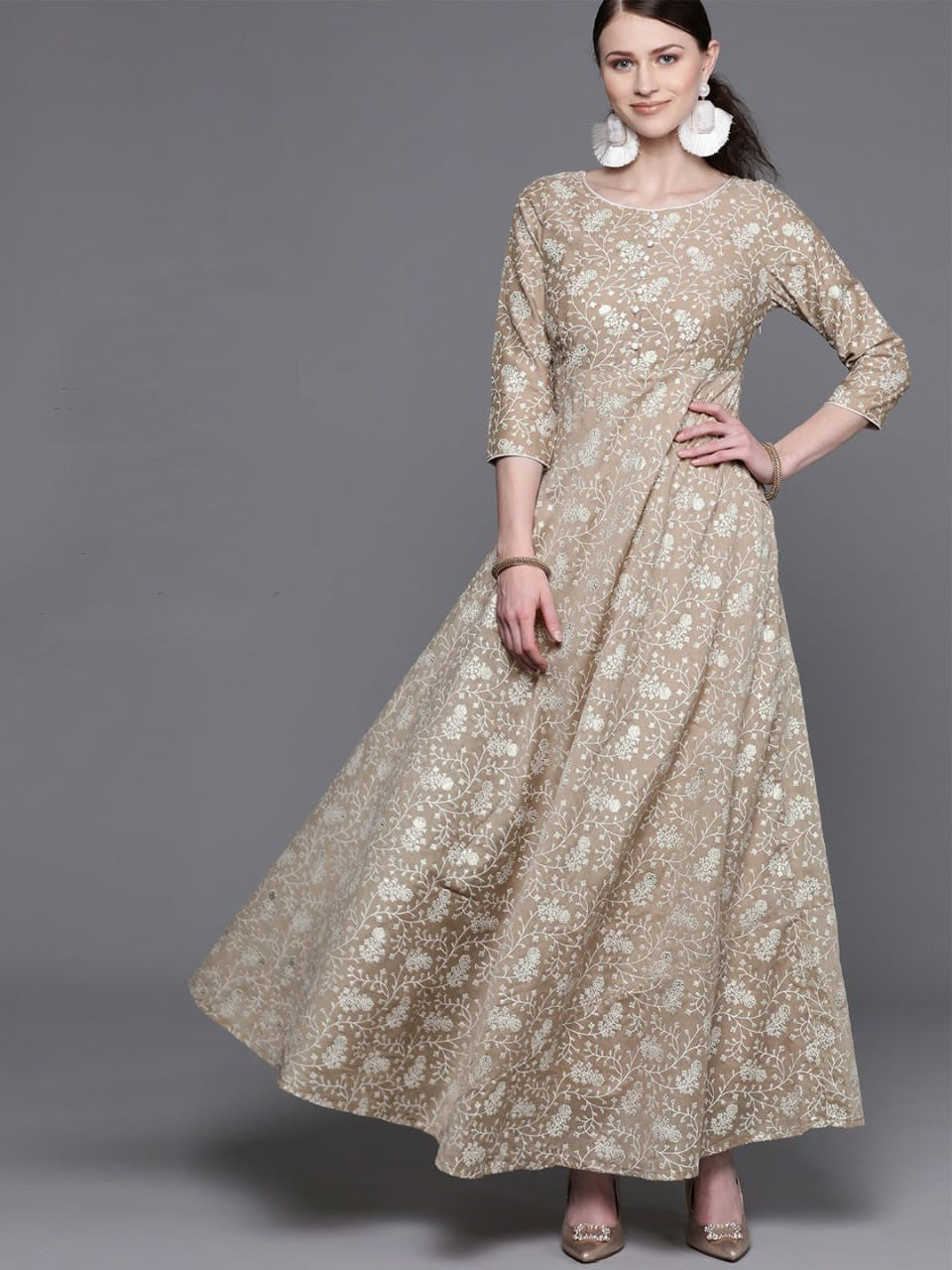 Beautiful beige maxi dress