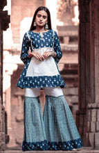 Load image into Gallery viewer, The Blue and white Sharara set