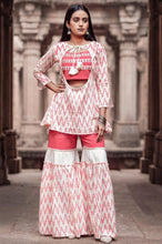 Load image into Gallery viewer, The Pink with white Sharara set