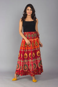 Beautiful Jaipur Cotton Wrap around Skirt