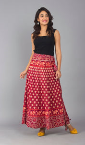 Beautiful Red Wraparound Skirt